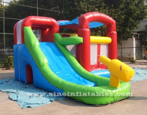 inflatable combo water bounce house with pool N water gun