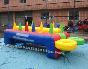 Kids N adults suspending inflatable potato game