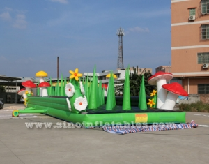 20m long big adults inflatable obstacle course