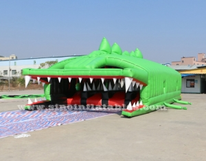 big crocodile adults inflatable obstacle course