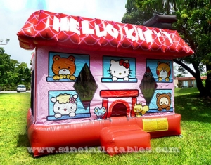 hello kitty house kids inflatable bouncy castle