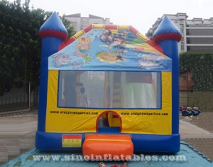 kids paradise bounce house with slide