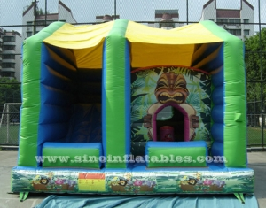 forest tortoise kids inflatable combo castle