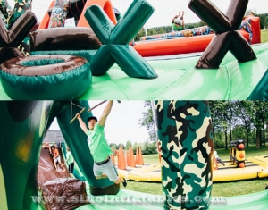 185 meters long big adults inflatable obstacle course course