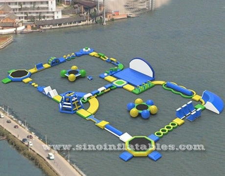 kids N adults giant inflatable floating water obstacle course