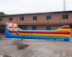 inflatable bungee run with basketball throwing