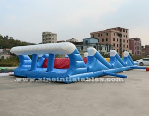 striding hills adults inflatable obstacle course