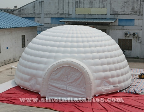 50 People 10 Mts White Giant Inflatable Igloo Dome Tent