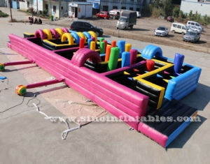 kids N adults inflatable maze obstacle course