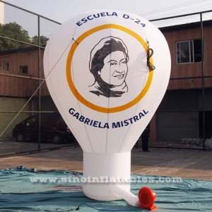 custom logo advertising inflatable roof top balloon