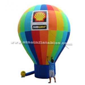 subway advertising inflatable cold air balloon