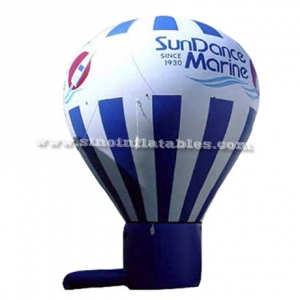 Blue N white inflatable air balloon