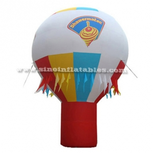 advertising inflatable ground balloon with flags