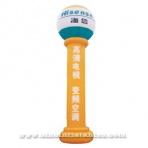 advertising inflatable pillar with round top