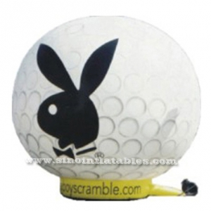 round shape white inflatable rabbit balloon