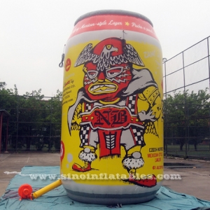 mexical style lager NB giant inflatable beer can