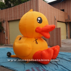 big advertising inflatable yellow duck