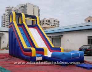 commercial kids inflatable water slide with pool