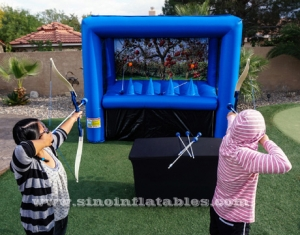 indoor inflatable archery game with hover balls