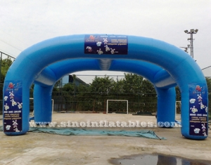 double arches advertising inflatable tent