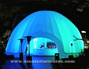 show led light inflatable dome tent