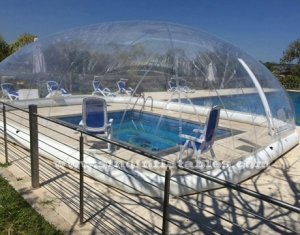 clear inflatable pool cover