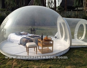 outdoor clear inflatable camping bubble tent