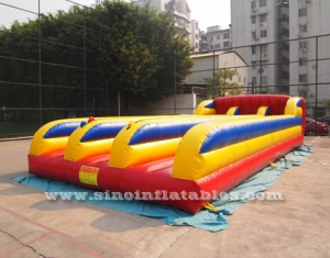 3 lane inflatable bungee run