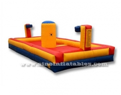 funny basketball sports inflatable bungee run