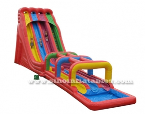 triple lane giant inflatable water slide for adults