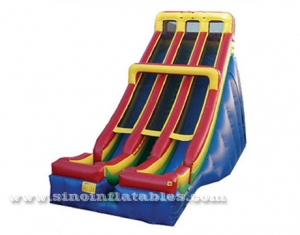 double lane giant adults inflatable slide