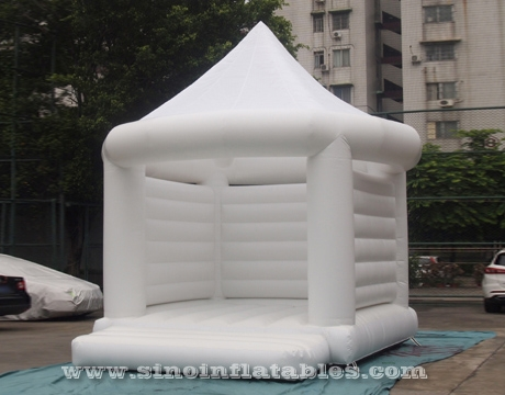 commercial grade adults all white wedding bouncy castle