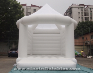 commercial grade adults white wedding bouncy castle