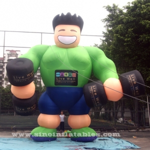 big advertising guy inflatable muscle man