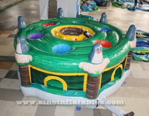 children N adults inflatable human whack a mole