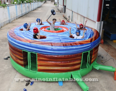 crazy human inflatable whack a mole