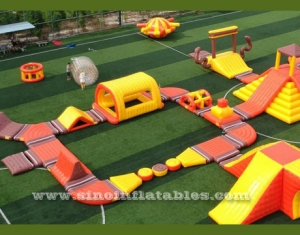 giant inflatable floating water park