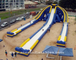 10m high adults giant inflatable triple water slide