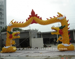 dragon inflatable archway