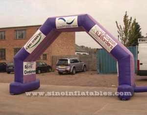 purple advertising inflatable arch