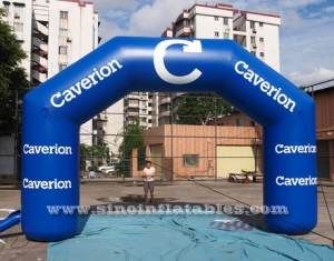 advertising inflatable arch for Caverian promotion