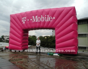 pink outdoor commercial T-Mobile inflatable arch