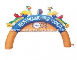 double phoenix inflatable arch