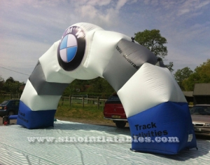commercial BMW inflatable arch