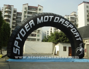 black advertising inflatable arch