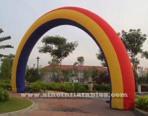 big inflatable rainbow arch