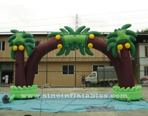 Tropical coconut tree advertising inflatable arch