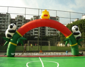 panda advertising inflatable arch