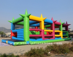 5k inflatable obstacle course with shooting balls