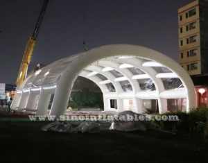 white giant inflatable stage tent